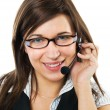 Friendly customer service agent - Stock Photo