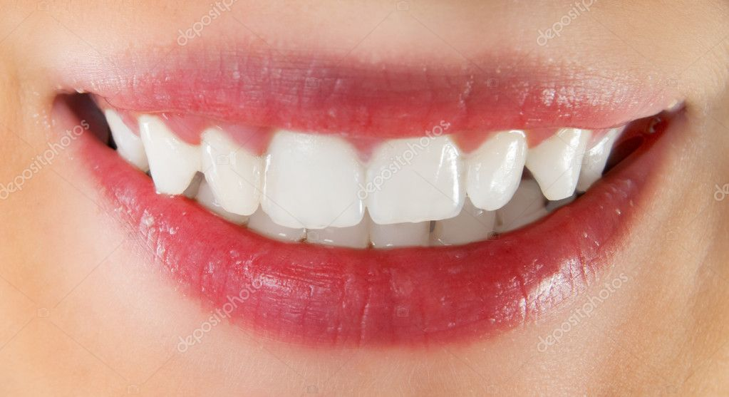 White healthy teeth of smiling woman — Stock Photo #2055783