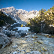 A mountain stream scenery - Stock Photo