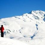 Winter mountain climbing — Stock Photo