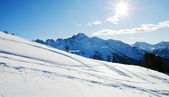 Snowy winter mountains — Stock Photo