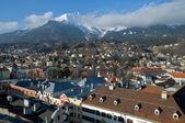 Mountain city in the Alps. Innsbruck — Stock Photo