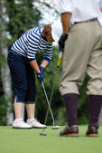Golfers at Country Club — Stock Photo