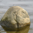 Stockfoto: STONE IN THE WATER