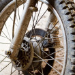 Stock Photo: Motorbike Spokes