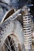 Image of an old motorbike with the aging signs — Stock Photo