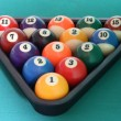 Billiard balls triangle — Stock Photo #1986645