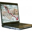 Notebook with dollars — Stock Photo