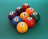 Billiard balls nine — Stock Photo