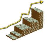 Crecimiento del dólar — Foto de Stock