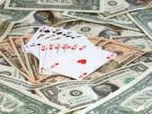 Poker for money — Stock Photo