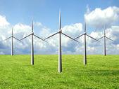 Windmill famr — Stock Photo