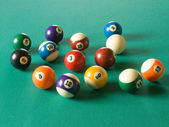 Billiard balls — Photo