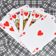 Hearts poker — Foto de Stock
