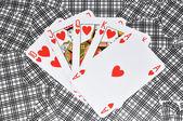Poker de coeurs — Photo