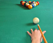 Billard-kugeln — Stockfoto
