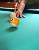 Billiard shot — Stock Photo