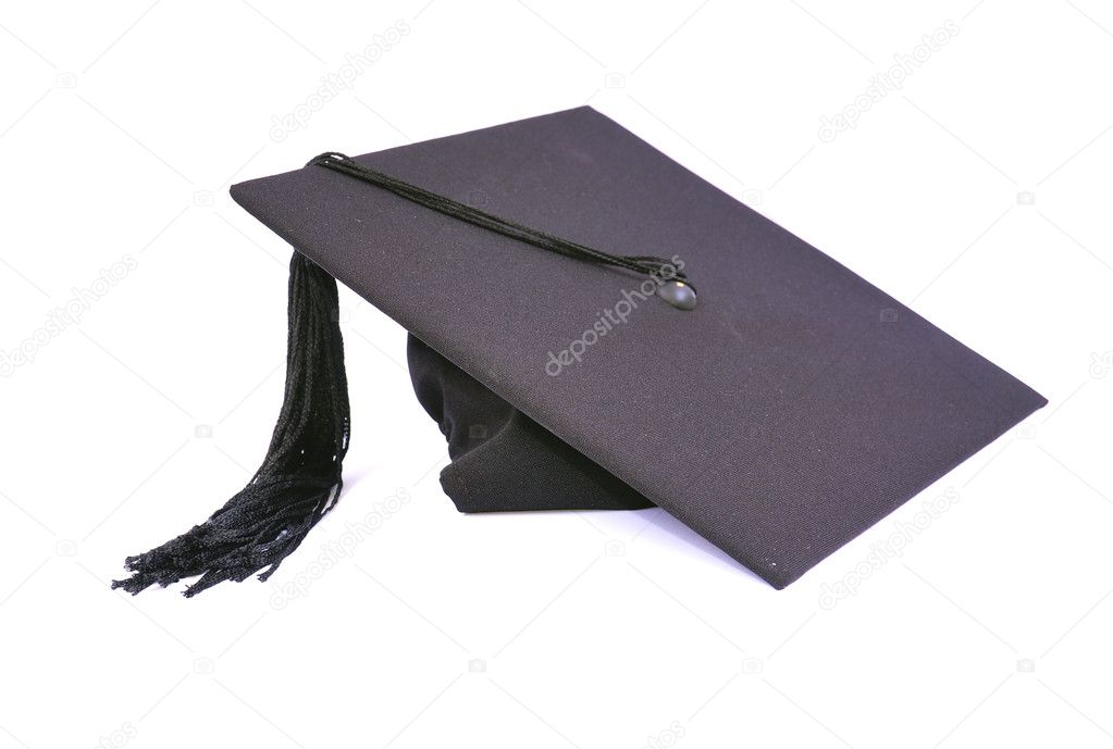 Student hat on white, with clipping path — Stock Photo #2267296