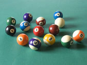Billiard balls — Stockfoto