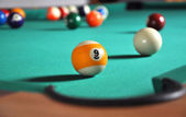 Billiard game — Stock Photo