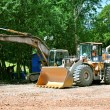 Bulldozer and Excavator — Stock Photo