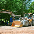 Bulldozer and Excavator - Stock Photo