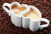 Kaffee mit liebe — Stockfoto