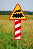 поезд знак — Стоковое фото