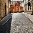 Foto Stock: Old street in Krakow, Poland.