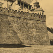 Old style photo of Royal Wawel Castle — Stock Photo