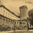 Photo: Old style photo of Royal Wawel Castle