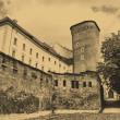 Old style photo of Royal Wawel Castle — Zdjęcie stockowe #1968429