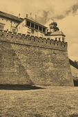 Foto de estilo antiguo del castillo real de wawel — Foto de Stock