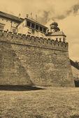 Vecchia foto di stile del castello reale di wawel — Foto Stock