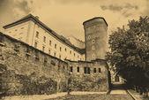 Vieille photo de style du château royal de wawel — Photo
