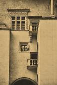 Gammal stil foto av royal wawel slott — Stockfoto