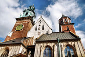 Kathedraal van wawel heuvel in Kraków — Stockfoto