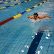 Foto Stock: Swimming race