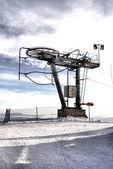 Drive wheels of a ski lift — Stock Photo