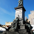 Statue poet - Adam Mickiewicz — Stock Photo #2018458