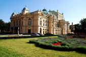 Theater built in 1892 in Cracow — Foto Stock
