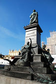 Statue poet - Adam Mickiewicz — Stock Photo