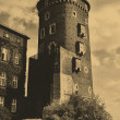 Old style photo of Royal Wawel Castle - Foto de Stock