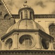 Old style photo of Cathedral at Wawel - Foto de Stock