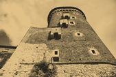 Oude stijl foto van Koninklijke wawel kasteel — Stockfoto