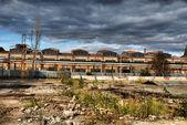 övergivna industriella lager — Stockfoto