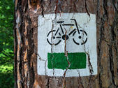Bicycle sign — 图库照片