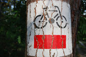 Bicycle sign — Stock fotografie