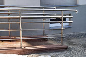 Modern wheelchair ramp — Stock Photo