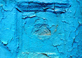 Old blue wall texture — Foto Stock
